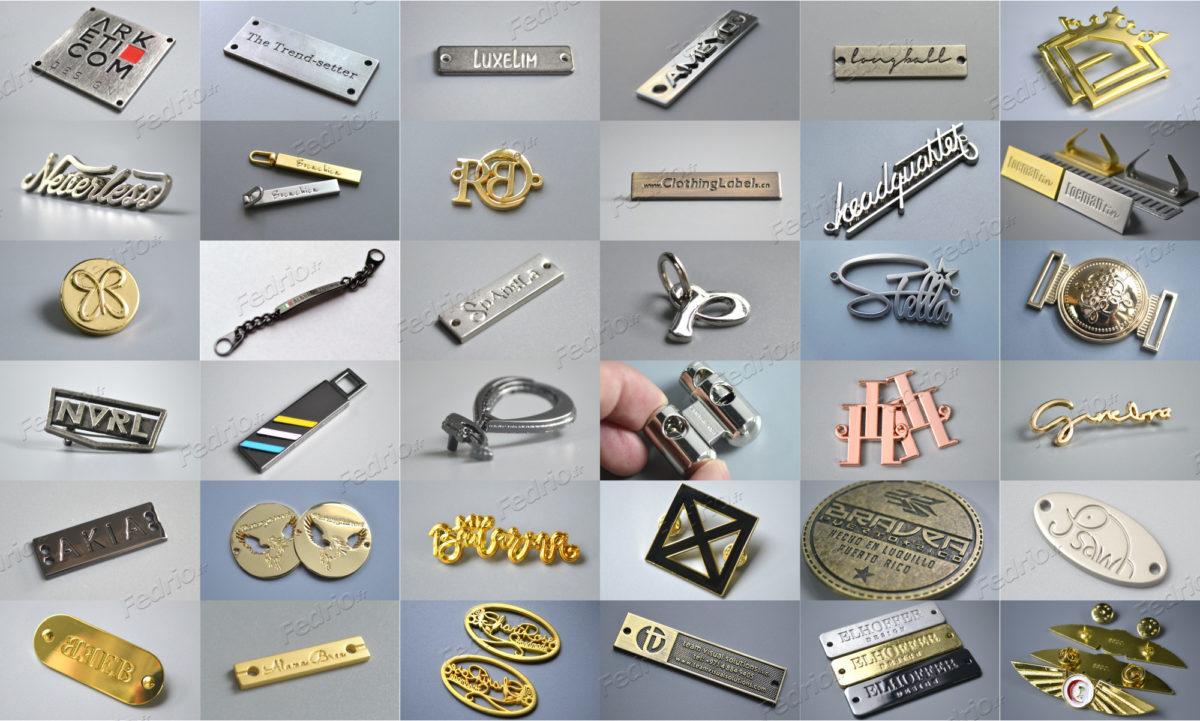 Étiquettes métalliques