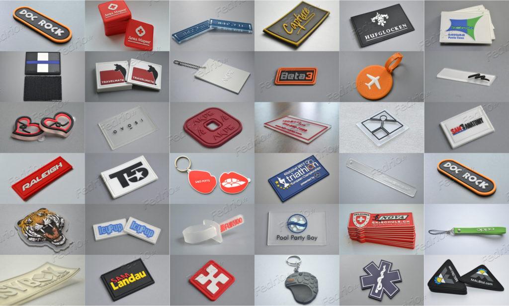 Étiquettes-PVC-silicone-caoutchouc