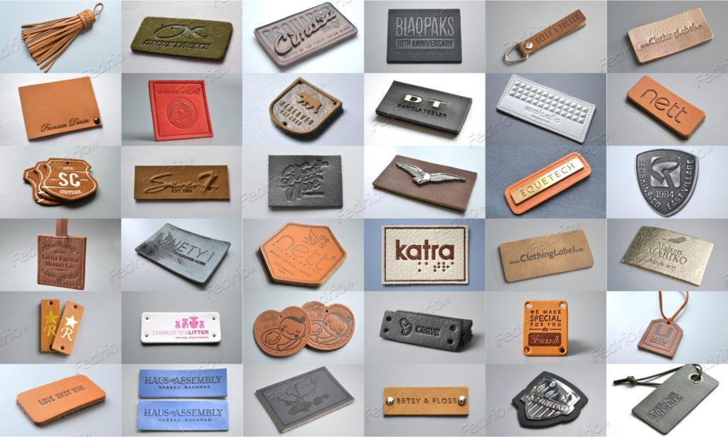 étiquettes-cuir