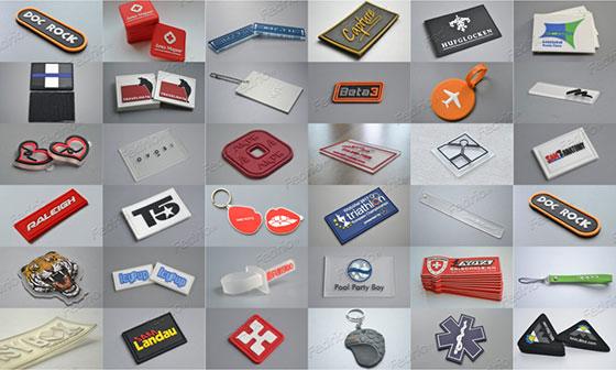 étiquettes en caoutchouc