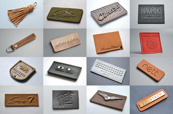 étiquettes cuir